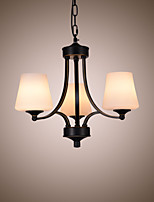 American style chandeliers living room glass  simple home improvement lamps  iron three heads chandeliers
