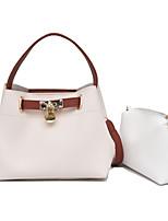 Damen Taschen Ganzjährig PU Bag Set Reißverschluss für Normal Weiß Schwarz Grau