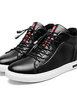 Da uomo Scarpe Finta pelle Autunno Comoda Sneakers Elastico Per Casual Nero Bianco/nero Nero/Rosso