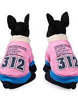 Hund Weste Hundekleidung Lässig/Alltäglich Buchstabe & Nummer Blau Rosa