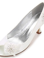 Da donna scarpe da sposa Comoda Decolleté Primavera Estate Raso Matrimonio Formale Serata e festa Con diamantini Lustrini Perline