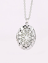 Women's Pendant Necklaces Locket Oval Alloy Geometric Jewelry For Party Halloween