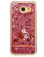 per la copertura di caso che fluisce il modello di liquido copertura posteriore caso glitter lucido pc duro per Samsung samsung galaxy a5
