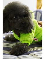 Dog Costume Dog Clothes Casual/Daily Cartoon Green Fuchsia