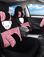 Cartoon Plush Car Seat Cushion Seat Cover Seat In Autumn And Winter Surrounded By A Five Seat-Red Leopard Print
