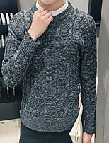 Men's Casual/Daily Regular Pullover,Solid Shirt Collar Long Sleeves Others Spring Winter Medium Micro-elastic