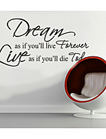 Dream As If You Home Decoration Creativewall Decal Zooyoo8133 Decorative Adesivo De Parede Removable Vinyl Wall Sticker