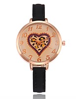 Damen Modeuhr Einzigartige kreative Uhr Armbanduhr Chinesisch Quartz PU Band Bettelarmband Bequem Schwarz Weiß Rot Braun Grün Rosa