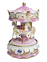 Music Box Toys Horse Carousel Cartoon Plastics Romantic 1 Pieces Not Specified Birthday Gift