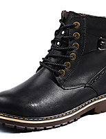 Men's Shoes Real Leather Fall Winter Cowboy / Western Boots Snow Boots Bootie Combat Boots Boots Booties/Ankle Boots Lace-up For Casual