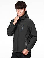 Men's Hiking Jacket Quick Dry Windproof Rain-Proof Stretchy Waterproof Single Slider Top for Running/Jogging Climbing Traveling Winter