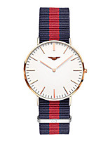 Women's Fashion Watch Quartz Fabric Band White Blue Red Pink