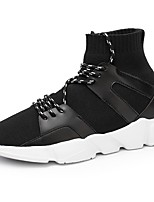 Men's Shoes Tulle Spring Fall Comfort Sneakers Lace-up For Casual Black