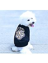 Dog Sweatshirt Dog Clothes Casual/Daily Animal Black