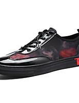 Da uomo Scarpe PU (Poliuretano) Primavera Autunno Suole leggere Sneakers Lacci Per Casual Nero Grigio Nero/Rosso