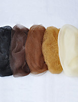 100pcs/lot 5MM Disposable Invisible Nylon Hair Net 20D Black Dark Brown Medium Brown Light Brown Beige Color
