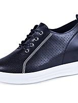 Da donna Sneakers Comoda Autunno PU (Poliuretano) Formale Lacci Piatto Bianco Nero 5 - 7 cm