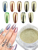 0.5g/Bottle  Silver Mirror Effect Nail Art  Powder  Chrome Pigment Glitter