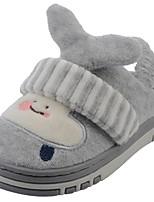 Boys' Shoes Velvet Winter Fur Lining Fluff Lining Slippers & Flip-Flops Pom-pom For Casual Khaki Navy Blue Gray