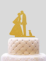 Cake Topper Hearts Paper Wedding Wedding PVC Bag