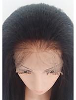 Donna Parrucche di capelli umani con retina Brasiliano Cappelli veri Lace frontale Senza colla e con tulle frontale 130% Densità Con