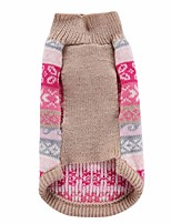 Dog Sweater Dog Clothes Keep Warm Stripe Fuchsia