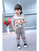 Boys' Stripe Others Solid Sets,Cotton Spring Fall Long Sleeve Clothing Set