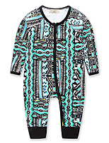 Baby Geometric Galaxy One-Pieces,Cotton Spring/Fall All Seasons Long Sleeve