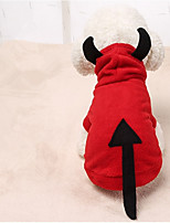 Dog Costume Dog Clothes Casual/Daily Solid Red