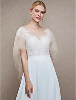 Women's Wrap Capes Tulle Wedding Party/ Evening Beading