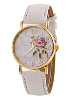 Women's Fashion Watch Wrist watch Casual Watch Quartz Leather Band Charm Elegant Cool Casual Black White Brown