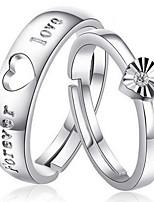 Casal Anéis de Casal Zircônia Cubica Clássico Elegant Zircão Formato de Coração Jóias Para Casamento Noivado