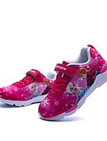Girls' Shoes Cotton Fall Winter Comfort Flower Girl Shoes Flats Magic Tape For Casual Dress Fuchsia Dark Blue