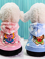 Dog Clothes/Jumpsuit Dog Clothes Casual/Daily Cartoon Blushing Pink Blue