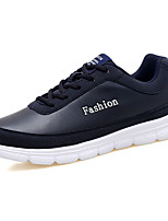 Men's Shoes PU Spring Fall Comfort Athletic Shoes Lace-up For Athletic Dark Blue Black