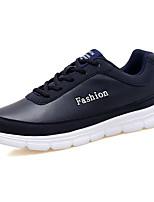 Homme Chaussures Polyuréthane Printemps Automne Confort Chaussures d'Athlétisme Lacet Pour Athlétique Noir Bleu de minuit
