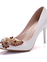 Women's Shoes PU Spring Fall Comfort Novelty Wedding Shoes Stiletto Heel Pointed Toe Crystal Bowknot Beading For Wedding Party & Evening