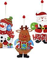Decalcomanie Ornamenti Pupazzo di neve Santa Vacanze NataleForDecorazioni di festa