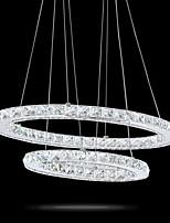 moderne LED-Kristall ovale Pendelleuchten Lampen Leuchten Kronleuchter kristallines Licht 2 Ring indoor Cristal Deckenbeleuchtung Glanz