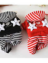 Dog Clothes/Jumpsuit Dog Clothes Casual/Daily Stars Black Red