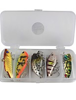 10 pcs Fishing Accessories Set Lure Packs g/Ounce mm inch,Plastic Carbon Steel Sea Fishing Bait Casting Ice Fishing Spinning Freshwater