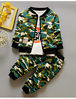 Boys' Solid Camouflage Sets,Cotton Spring Fall Long Sleeve Clothing Set