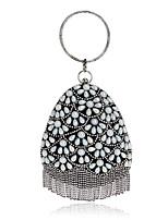 Damen Taschen Ganzjährig Polyester Abendtasche Kristall Verzierung Perlen Verzierung für Veranstaltung / Fest Formal Blau Gold Schwarz