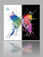 Toile Abstrait,Deux Panneaux Toile Format Horizontal Imprimé Décoration murale For Décoration d'intérieur