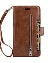 economico -Custodia Per Apple iPhone X iPhone X iPhone 8 Porta-carte di credito A portafoglio Con supporto Con chiusura magnetica Per retro Tinta