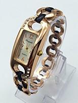 Women's Fashion Watch Bracelet Watch Casual Watch Quartz Rose Gold Plated Alloy Band Sparkle Elegant Black White Rose Gold