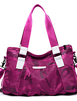 Women Bags All Seasons Canvas Tote Zipper for Casual Office & Career Blue Black Purple Fuchsia