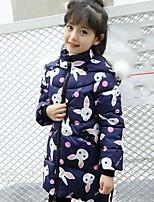 Girls' Animal Print Down & Cotton Padded,Rayon Fall Winter Long Sleeve