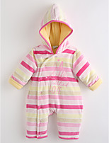 Baby Stripe One-Pieces,Cotton Fall Long Sleeve