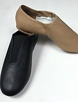 Men's Jazz Pigskin Heel Training Low Heel Black Brown Under 1